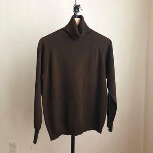 Vintage turtleneck brown long sleeves size:Med